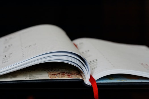 Free stock photo of calendar, paper, diary, page