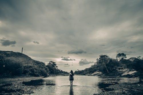Imagine de stoc gratuită din alb-negru, apă, apus, arată-ți dragostea