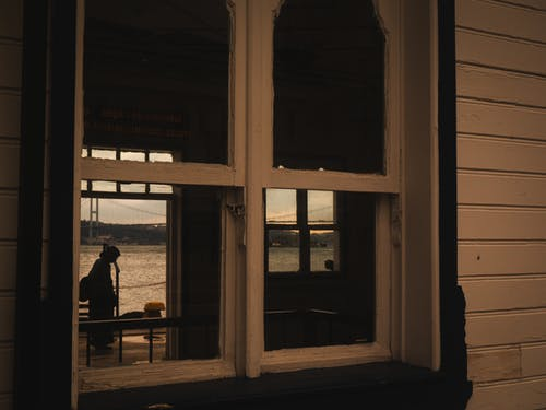 A Wooden Window with Clear Glass