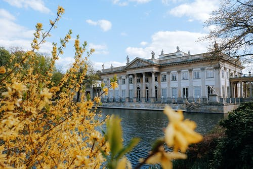 The Waterfront Palace of the Isle Museum in Warsaw Poland