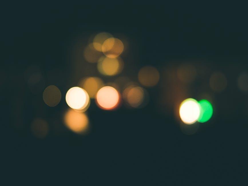 New free stock photo of lights, dark, bokeh