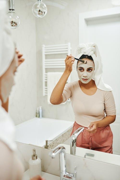 Free stock photo of bathroom, beauty, clay mask