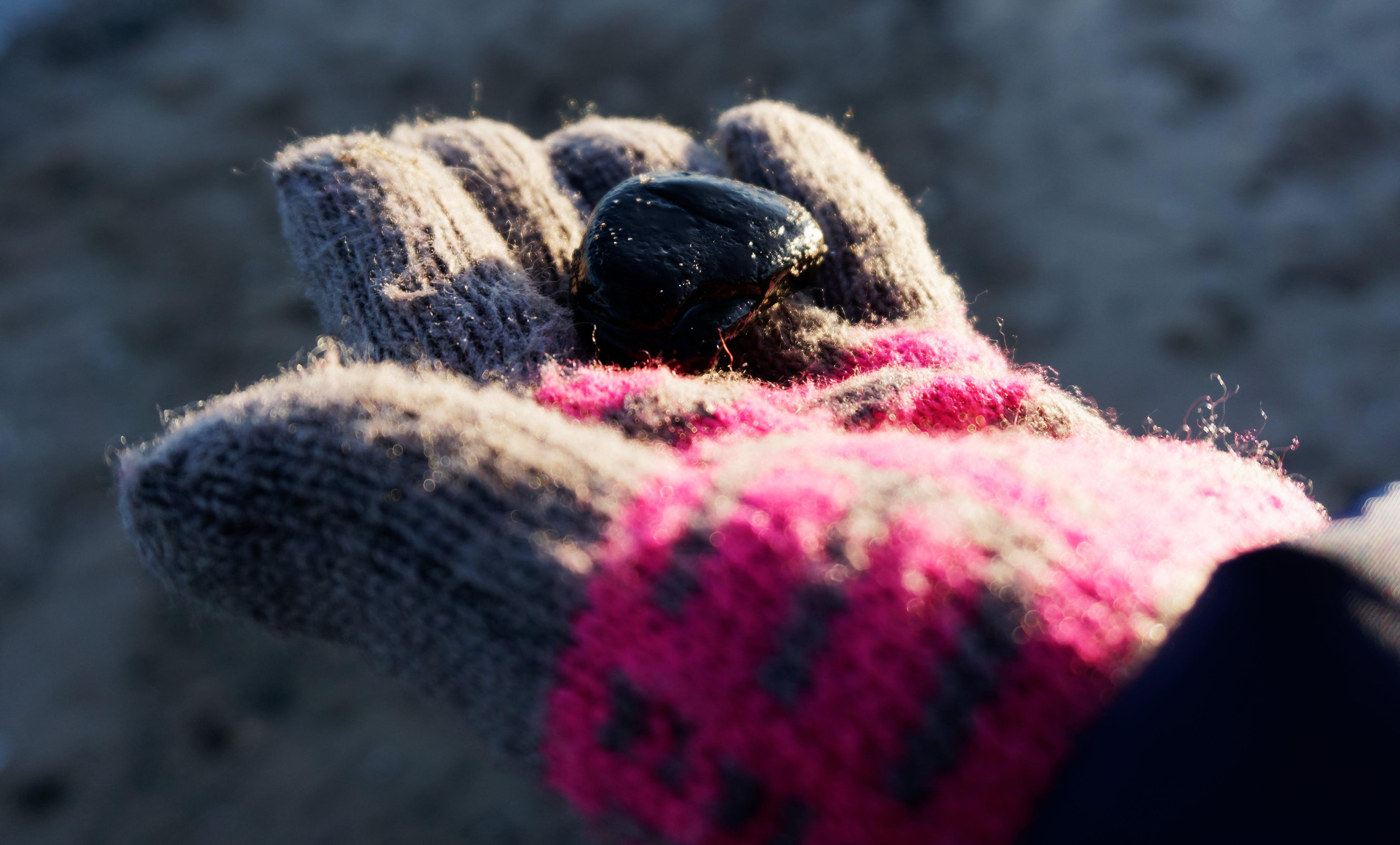 Gratis lagerfoto af hav, sort sten strand vand