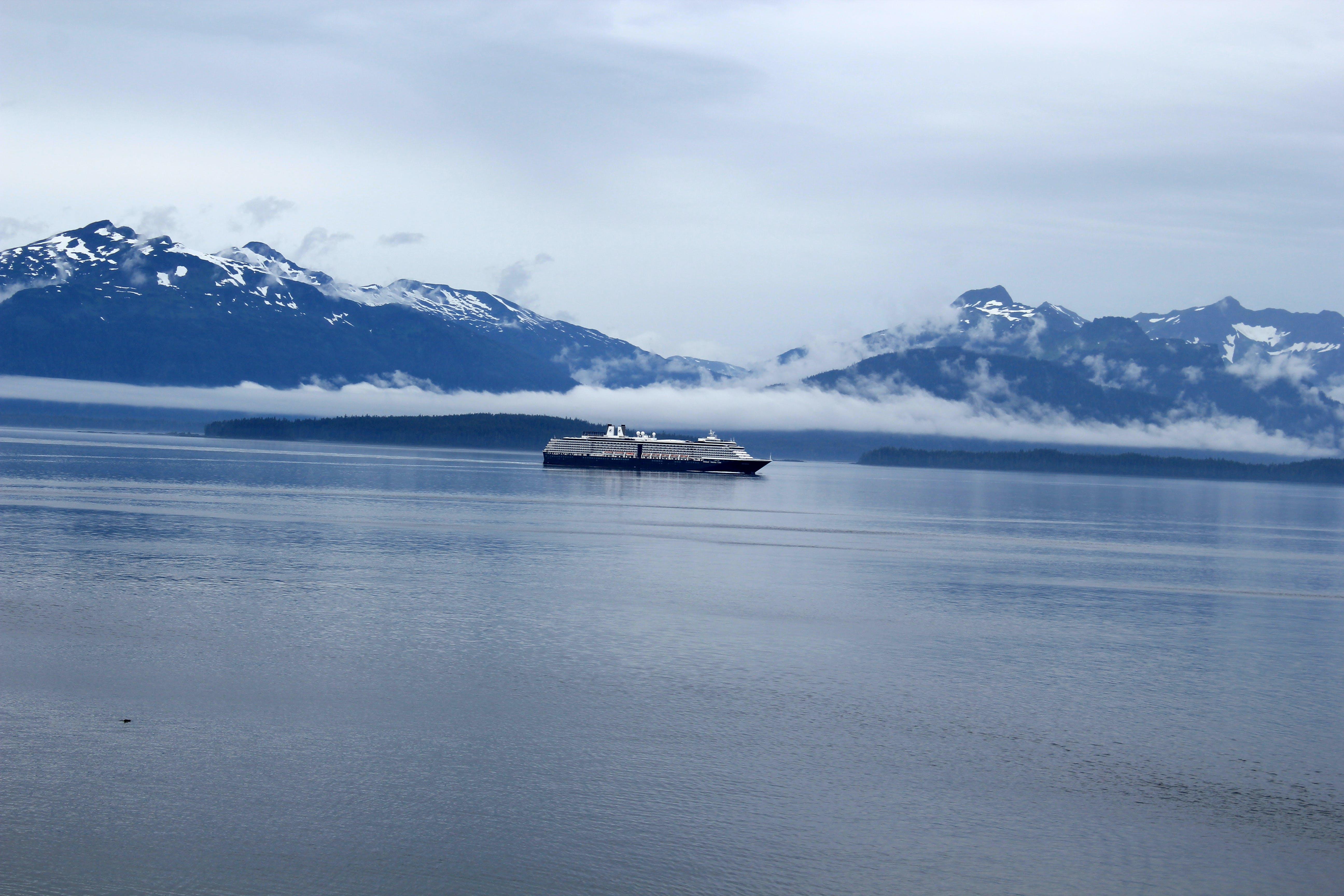 Free stock photo of mountains, sea, ship