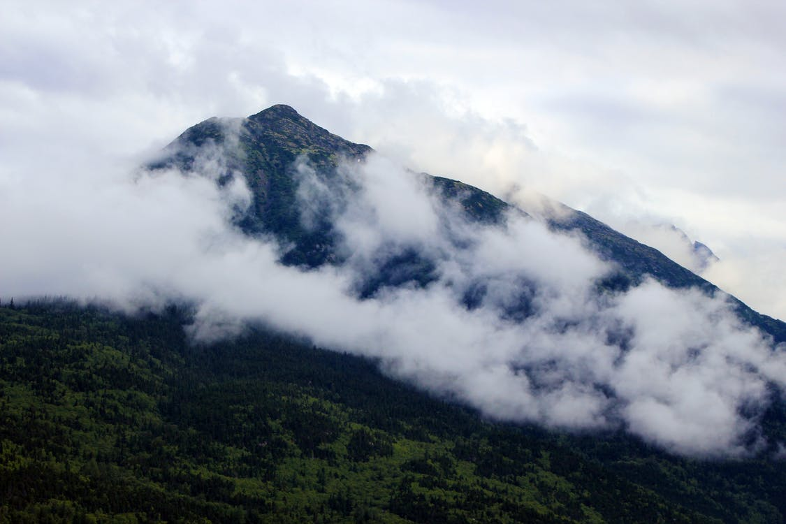 White Clouds over Black Mountain