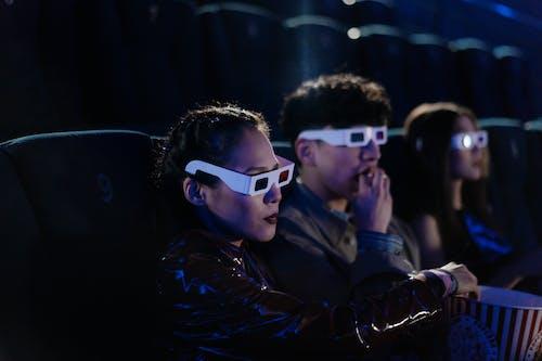 3d gözlük, Arkadaşlar, beraber içeren Ücretsiz stok fotoğraf