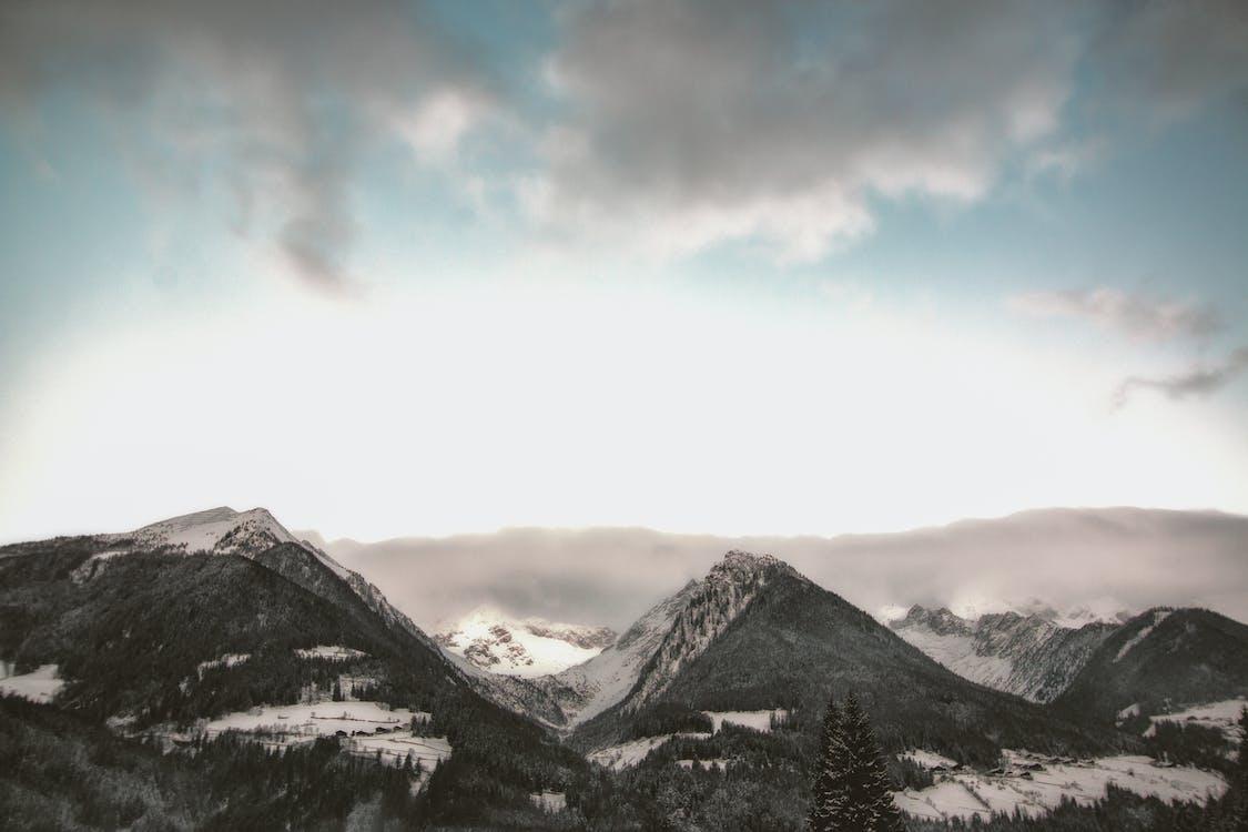 ég, felhők, HD-háttérkép