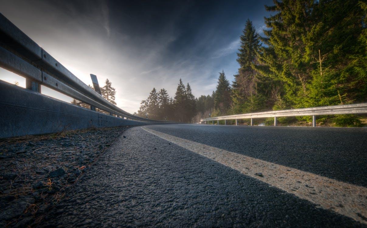 afgrunden, asfalt, bjerg