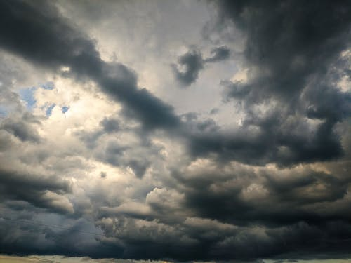 Stormy sky with gray clouds