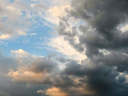 Cloudy sky on blue sky