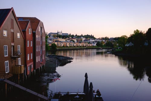 Free stock photo of norway, oldtown, sunset, trondheim