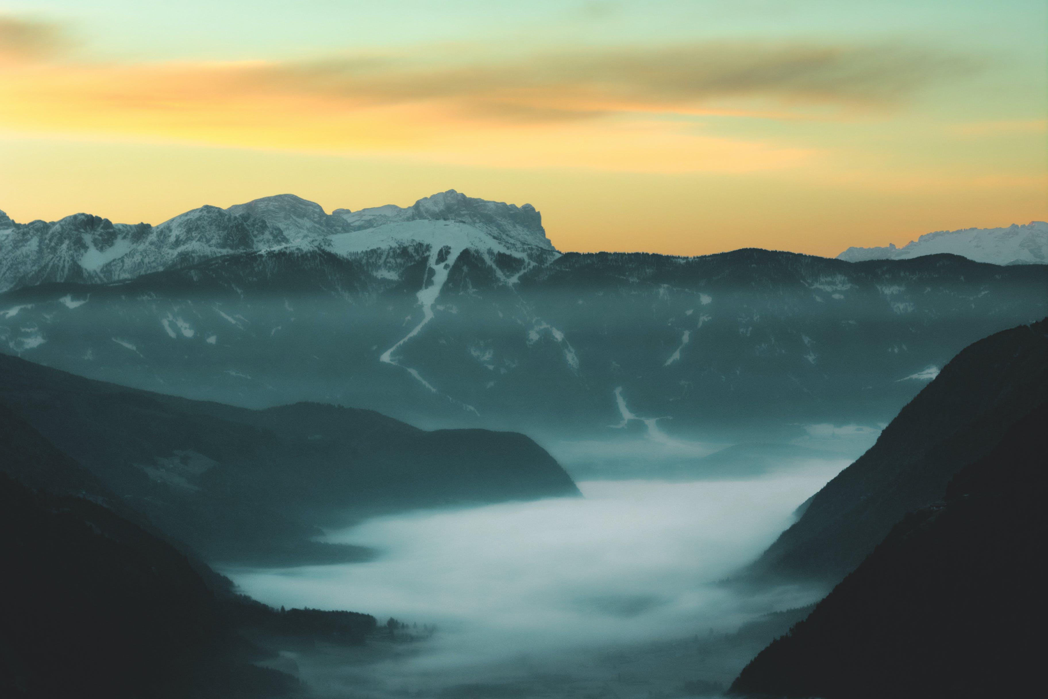 Fog on Mountain during Dusk