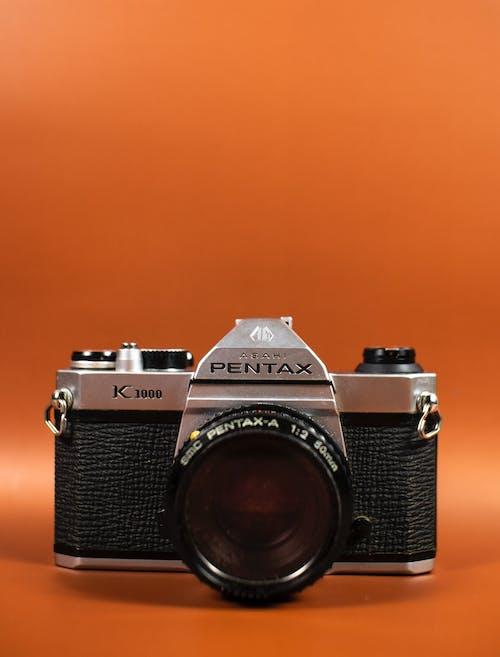 Black and Silver Pentax Camera