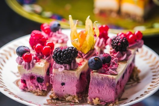 Cake With Raspberry Toppings