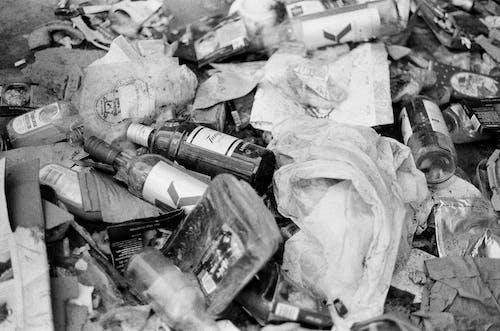 Photos gratuites de bouteilles vides, déchets, détritus