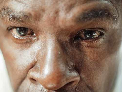Mans Face in Close Up