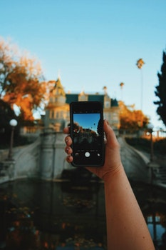 Smartphone on Human Hand