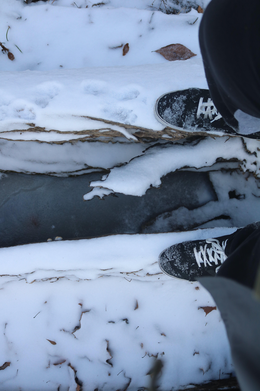 Free stock photo of hole, ice, nature, ravine