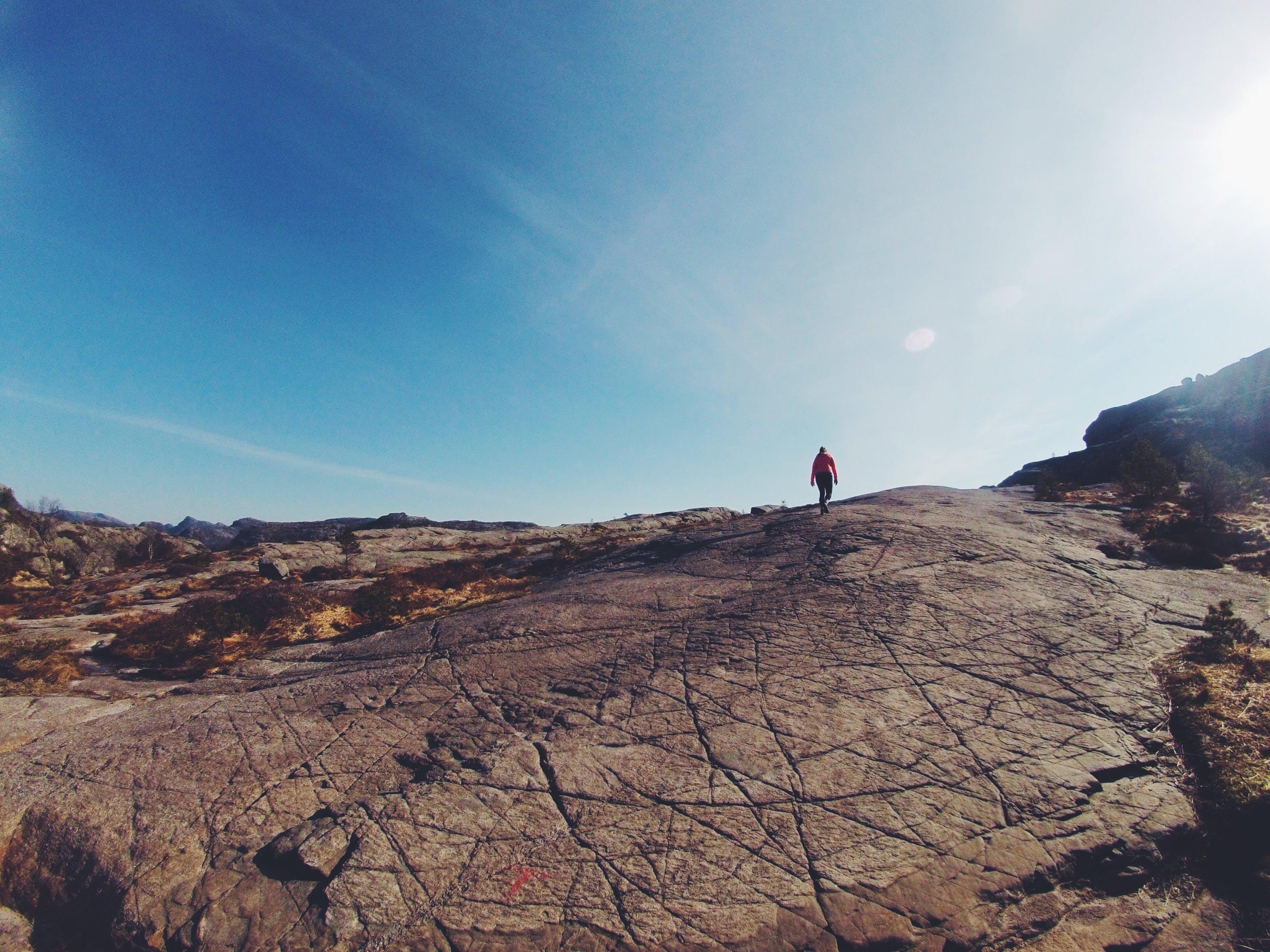 Foto stok gratis batu, bukit, gunung, hiker