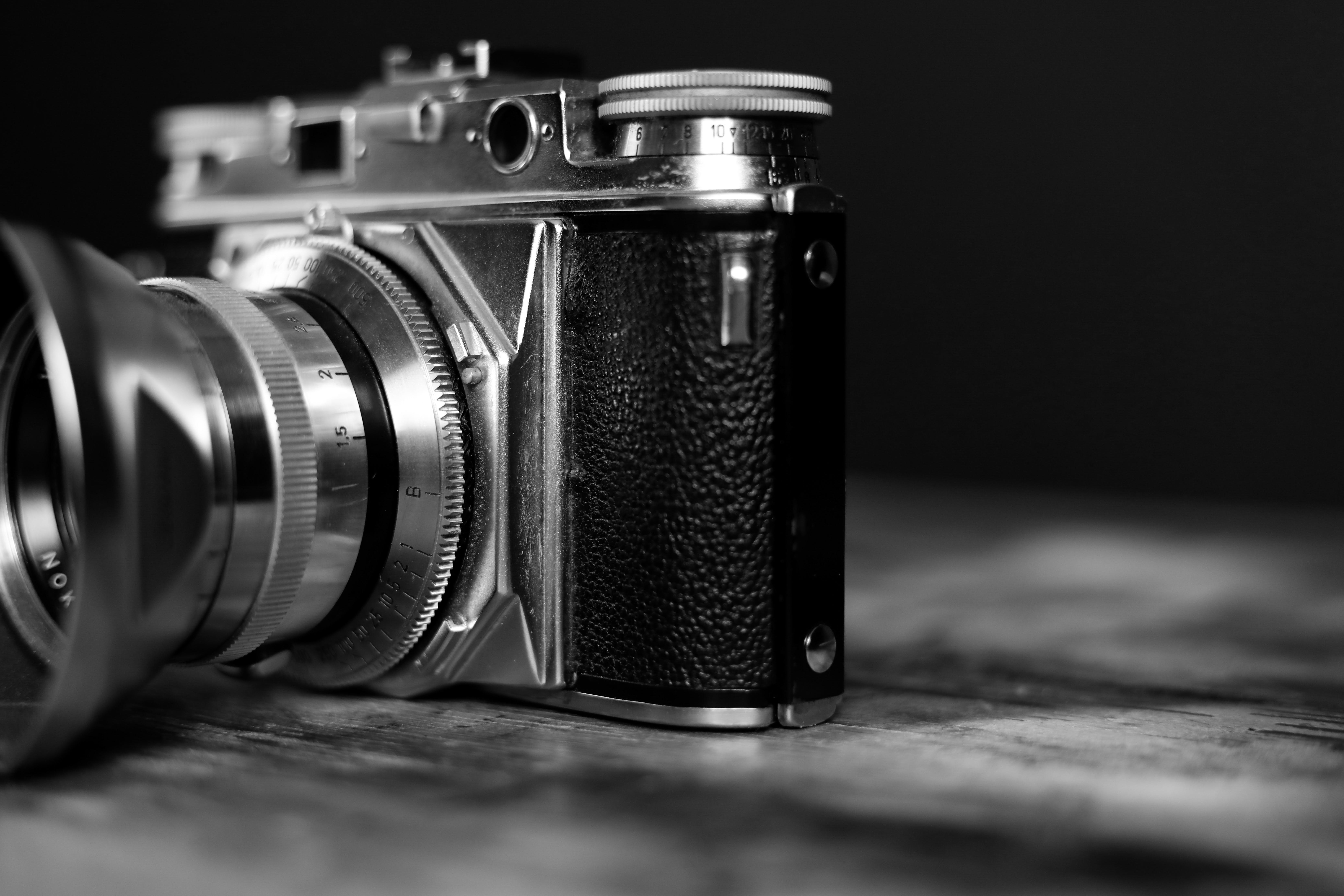 Monochrome Photography of Camera