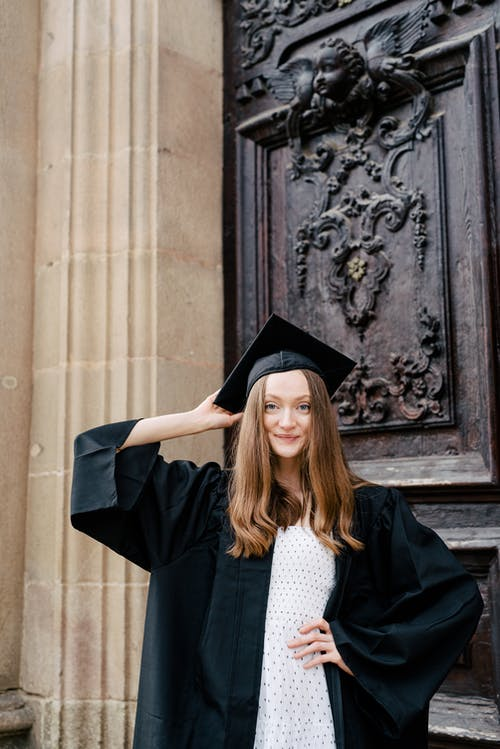 Woman in Black Academic Gown