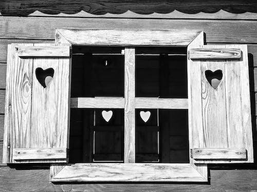 Free stock photo of black and white, children playground, heart shape