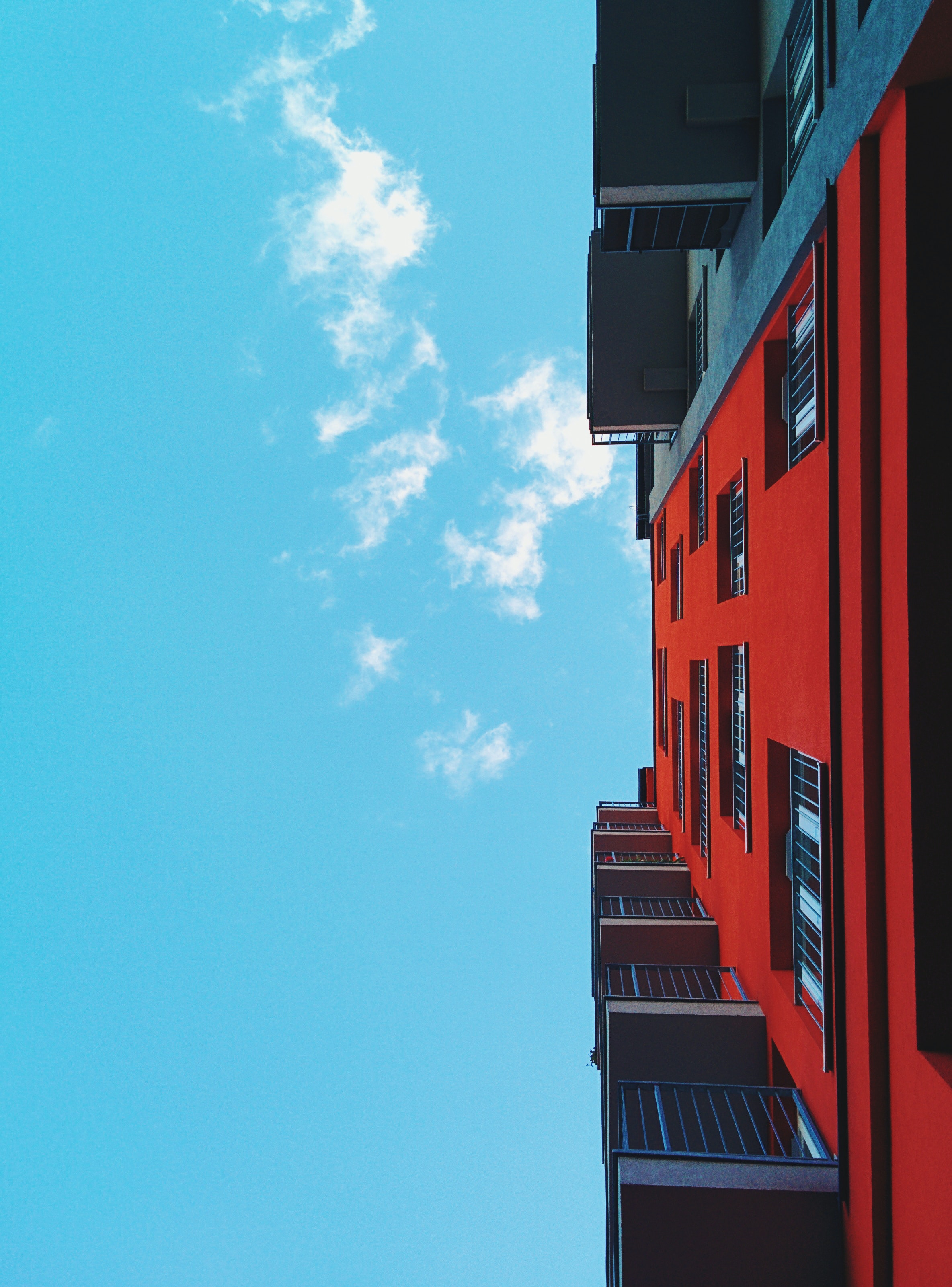 Red Black Wall Building 183 Free Stock Photo