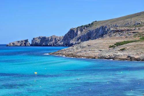 Free stock photo of cliff, majorca, mallorca, mediterranean