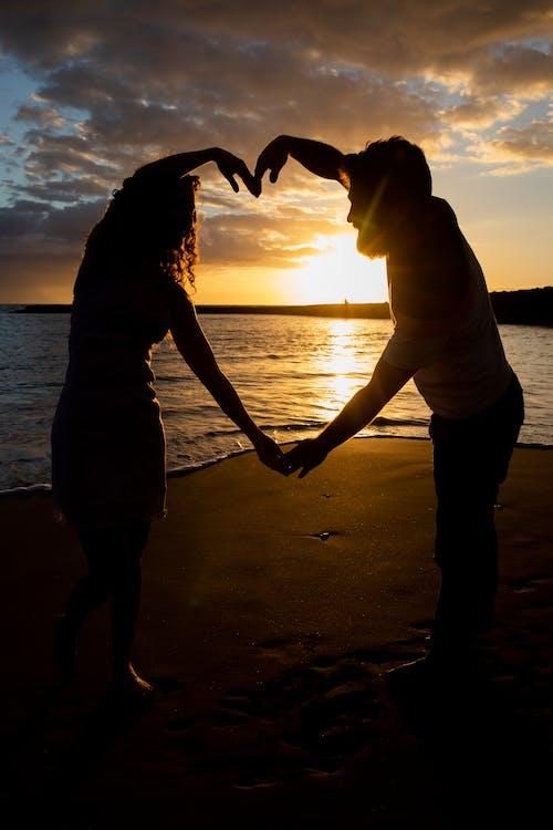Free stock photo of boyfriend and girlfriend, couple, heart