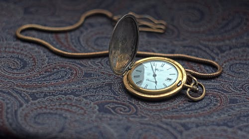 A Vintage Pocket Watch with Chain