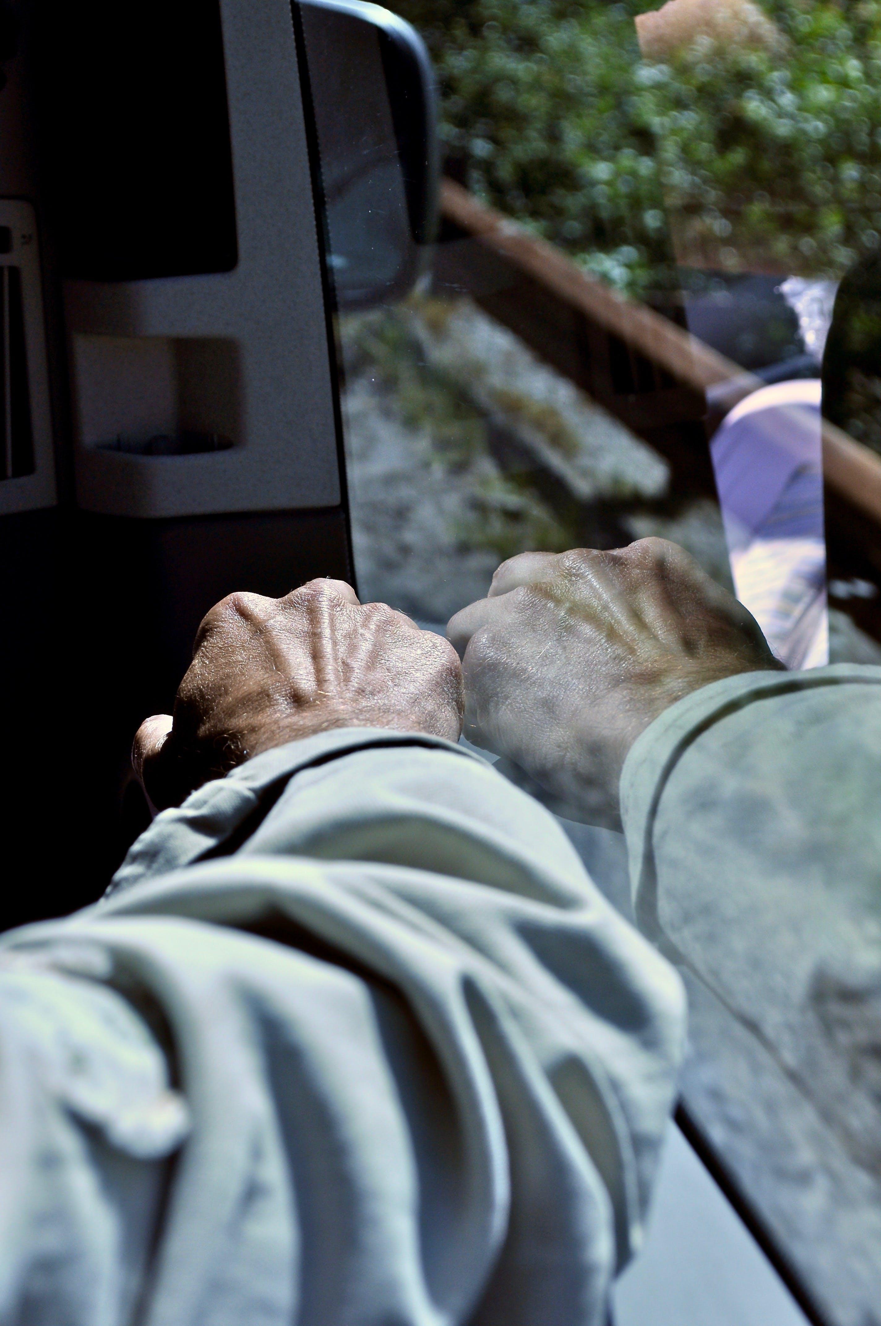 Free stock photo of arm, light reflections, train