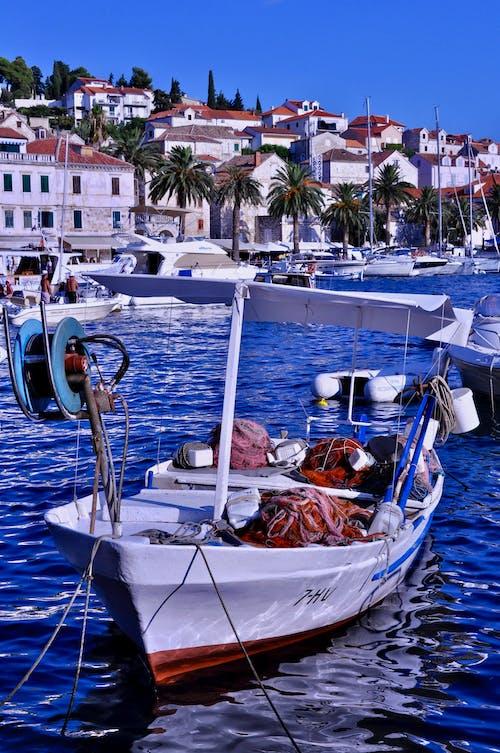 Free stock photo of fishing boat, hvar