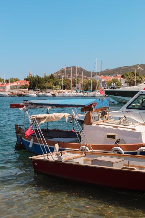 Motor Boats in the Marina Harbor