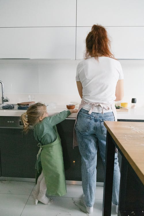 A Mother and Daughter in the Kitchen