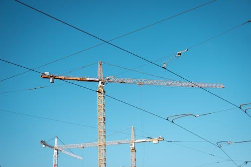 Fotos de stock gratuitas de alto, cables, cielo azul