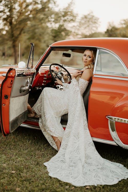 ウェディングドレス, クラシック, ドライバーの無料の写真素材