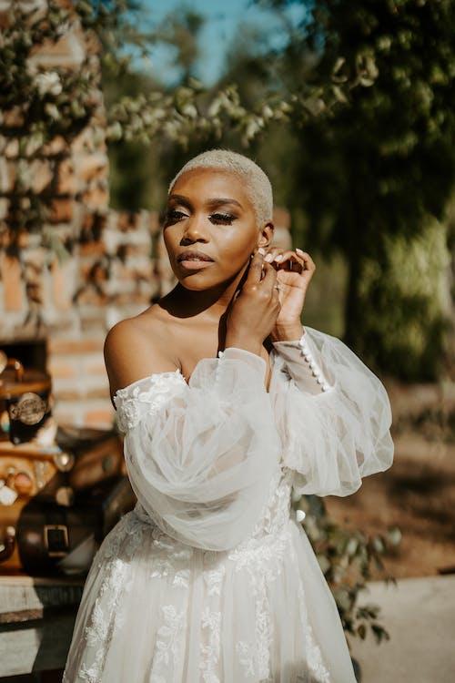 A Beautiful Woman in a Bridal Dress