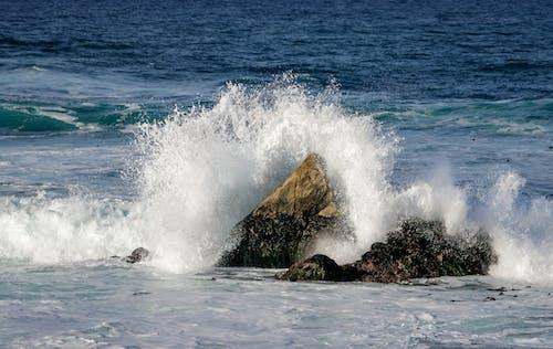 Gratis stockfoto met 17 mijl rijden, blauw, blauw water, brekende golven