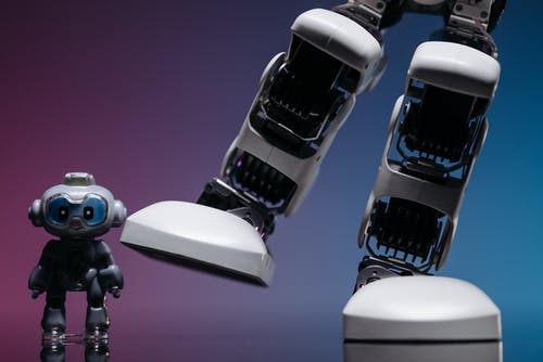 Close Up Shot of  Robot Toys