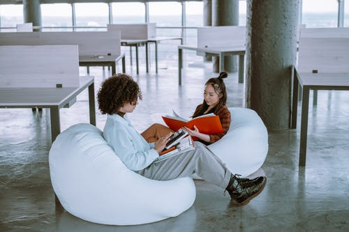 Women Working Together in an Office