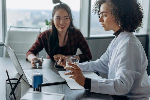Businesswomen Collaborating in Work