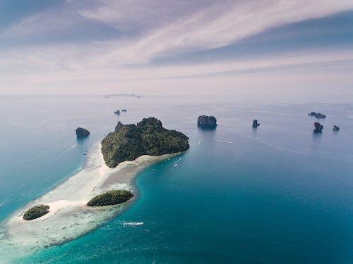 Immagine gratuita di da sopra, isola, mare