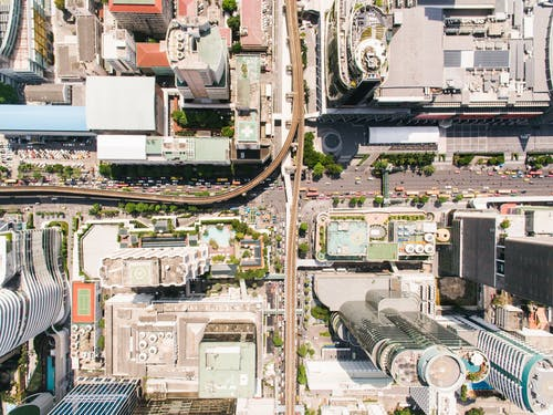 คลังภาพถ่ายฟรี ของ จากข้างบน, ดูนกตา, ตัวเมือง