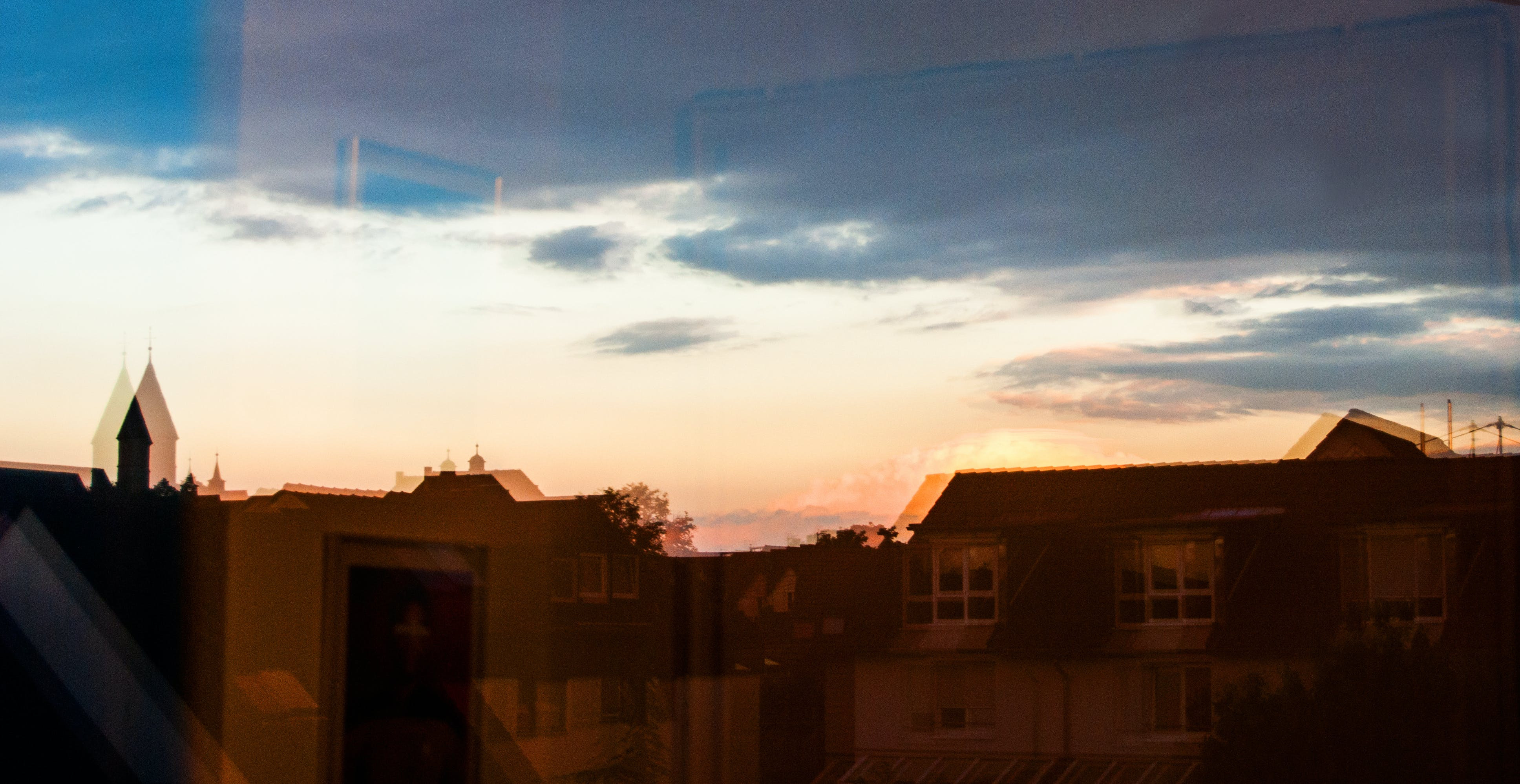 Free stock photo of sunset, view, theme reflections