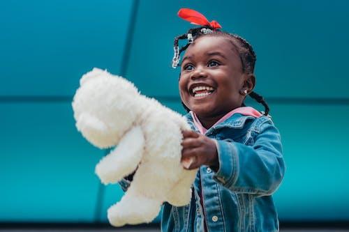 Free stock photo of adoption, adorable, black girl