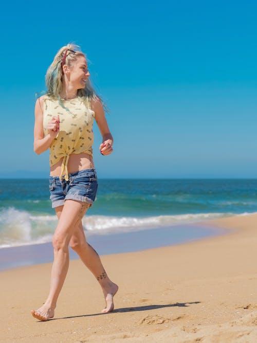 금발, 기쁨, 달리는의 무료 스톡 사진