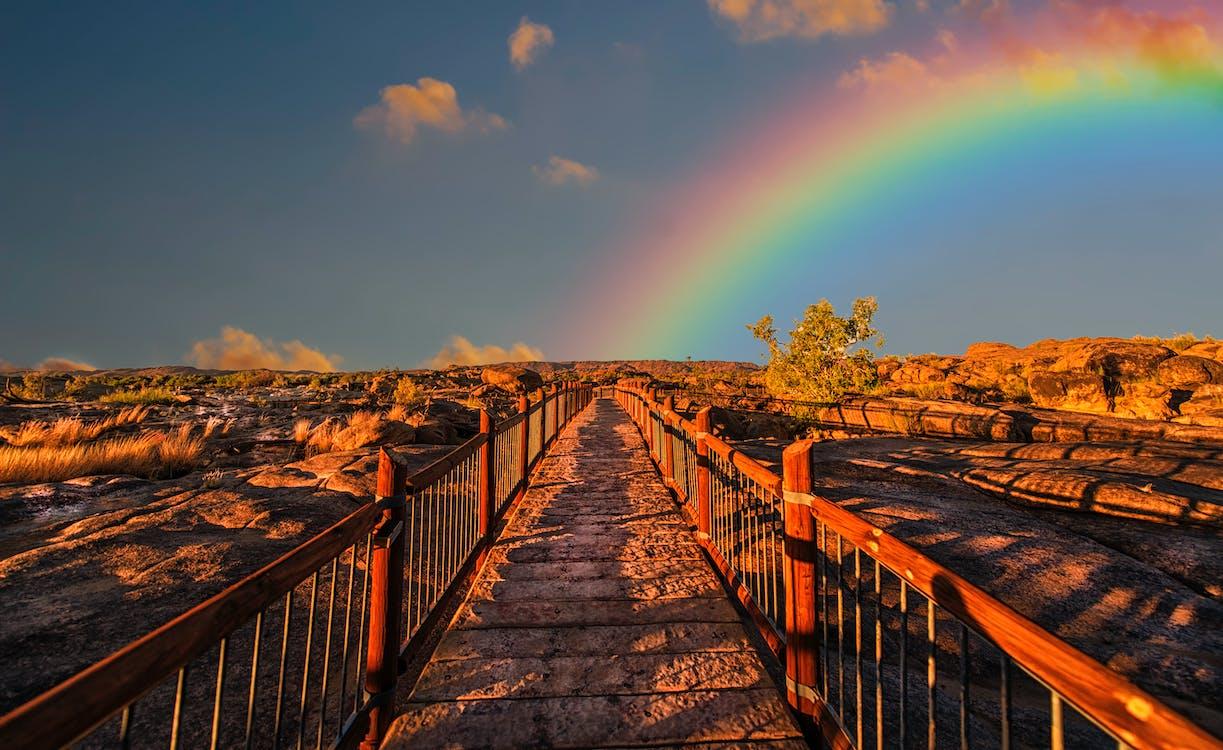 arco iris, arcoíris, camino