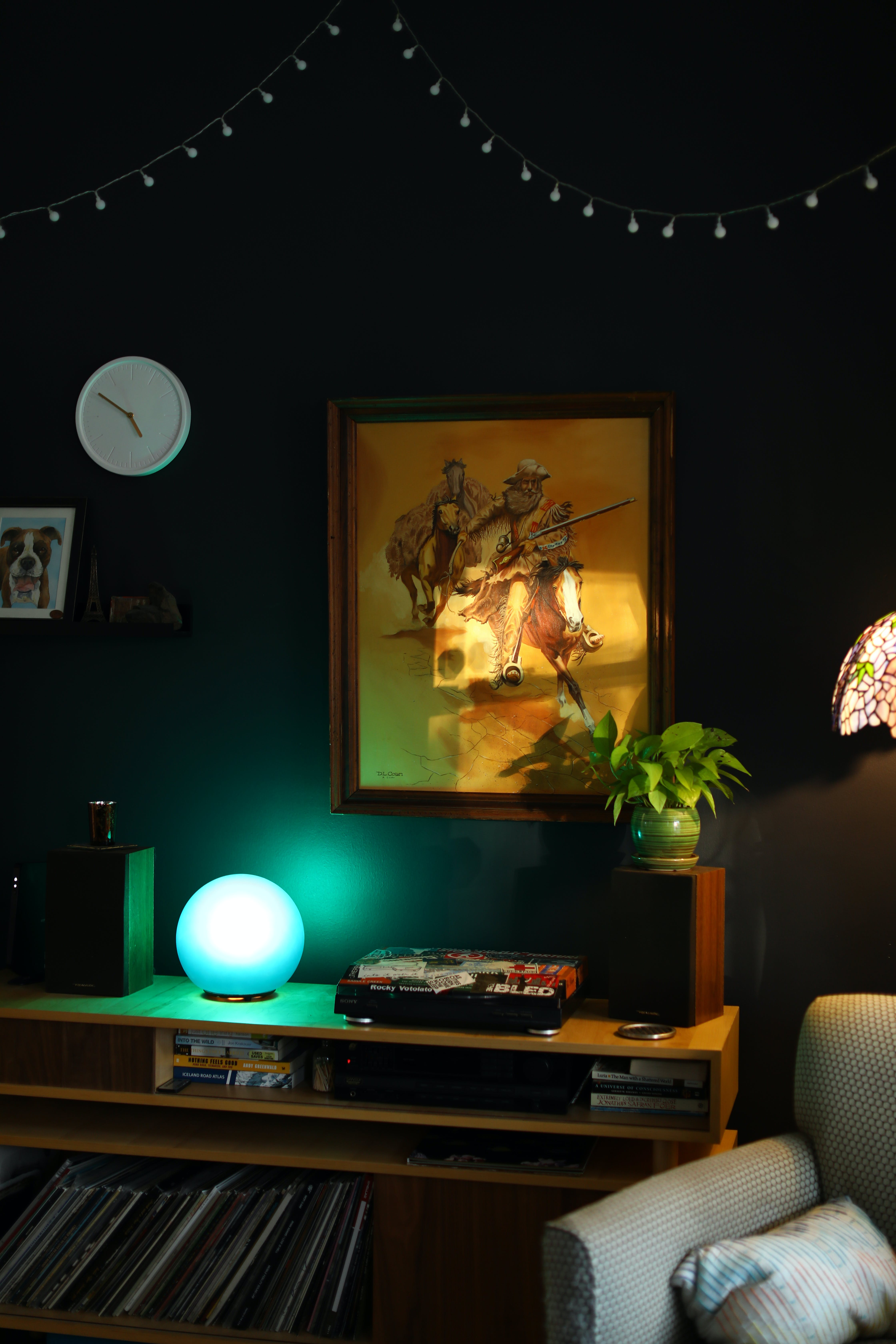 Free stock photo of home decor, lamps, records