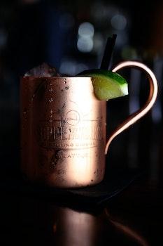 Copper-colored Mug on Table