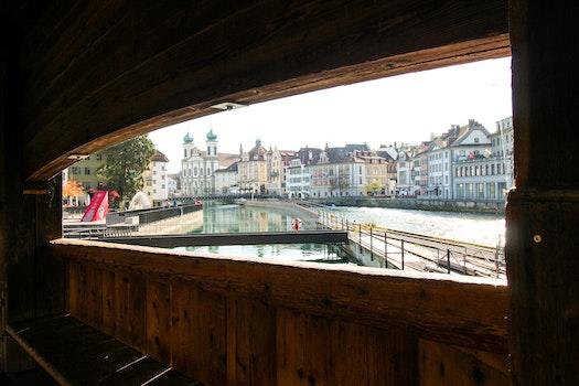 Free stock photo of city, landscape, blue, bridge